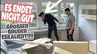 WOHNUNG AUSEINANDER GENOMMEN PRANK AN GROSSEN BRUDER!!! (ENDET NICHT GUT)