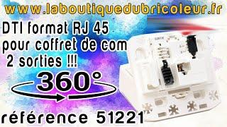 DTI format RJ 45 pour coffret de communication reference 51221