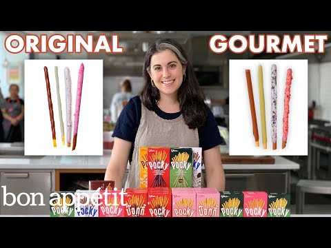 Pastry Chef Attempts to Make Gourmet Pocky | Gourmet Makes | Bon Apptit
