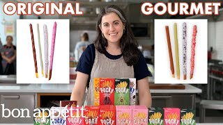 Pastry Chef Attempts to Make Gourmet Pocky | Gourmet Makes | Bon Appétit Video