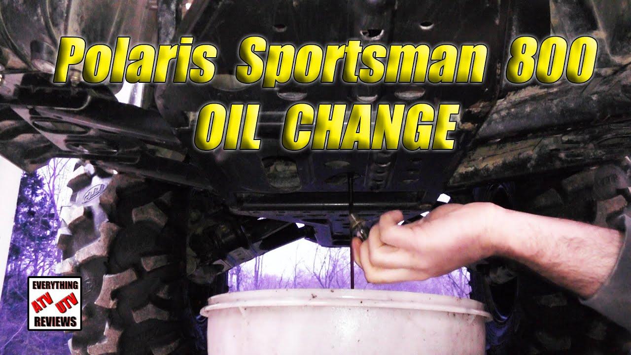 How to Change Oil Polaris SPORTSMAN 800 Twin EFI: 2 qt Fill - YouTube