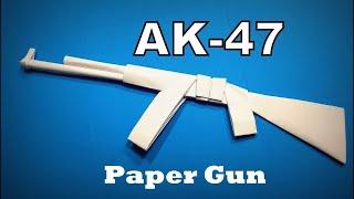 How to Make a Paper Gun AK47 Weapons DIY | Origami Gun | Paper Crafts | Paper Gun | AK 47 Gun Making