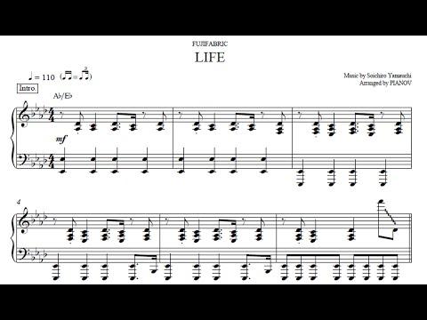 LIFE (Full) / ピアノ(ソロ・上級)楽譜 : アニメ『銀の匙』 OP2