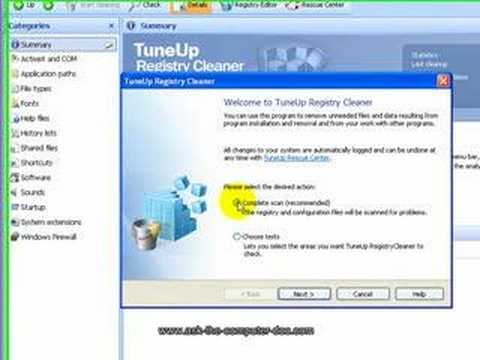 TuneUp Utilities, a superior registry cleaner (wmv)