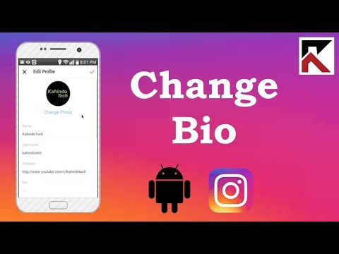How To Change Instagram Bio Android