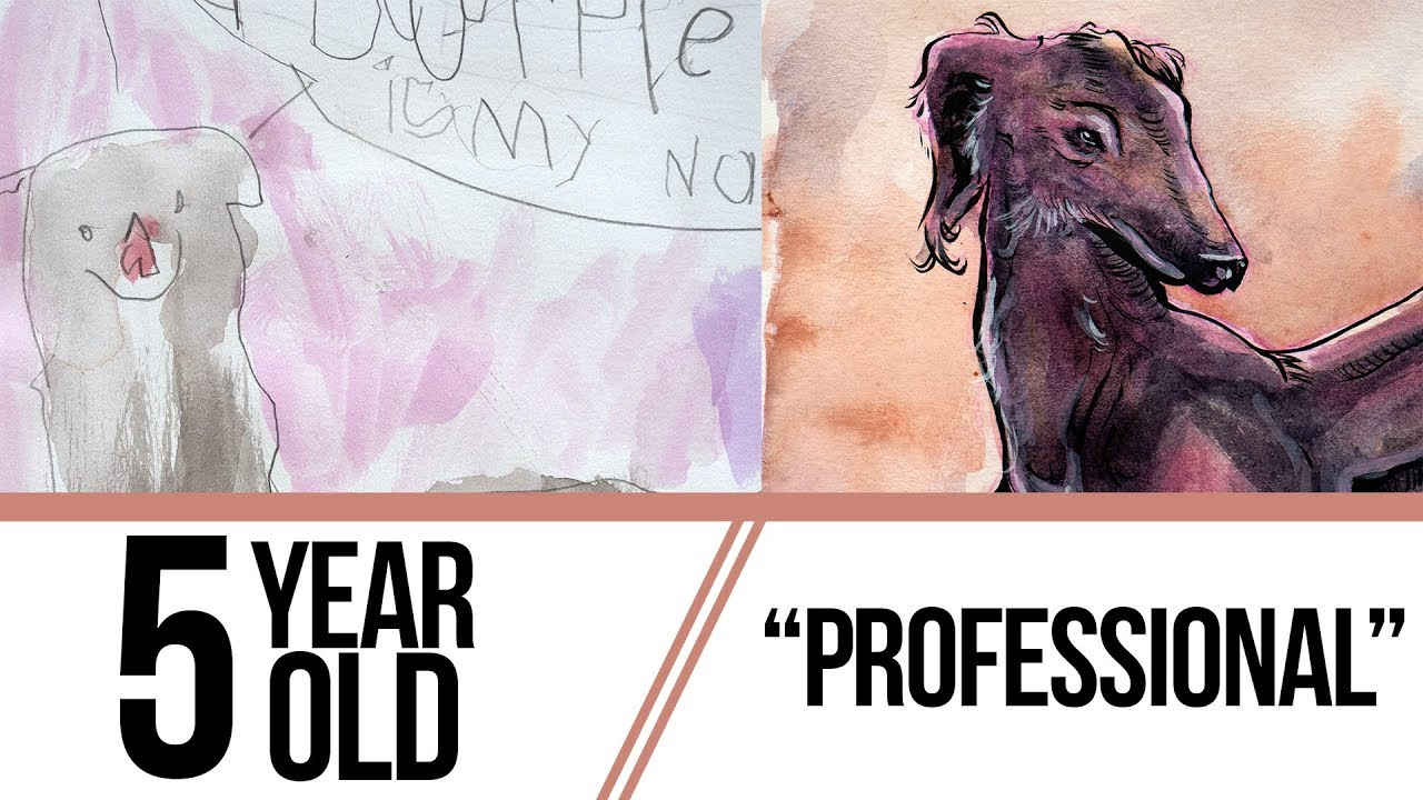 REDRAWING MY KID'S ART ft  unbridled adorableness - Stack Vid
