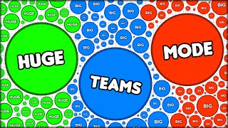 INSANE TEAMS!! - BIGGEST AGARIO TEAMS MODE! BIG DOTS, HUGE TEAMS! (Agar.io #85)