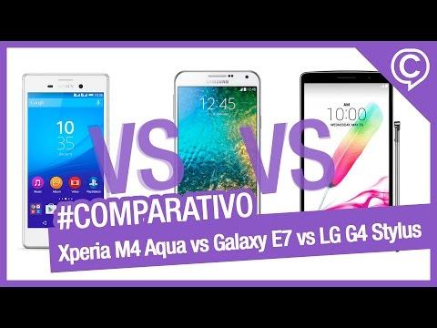 Comparativo Rápido Xperia M4 Aqua, Galaxy E7 e G4 Stylus