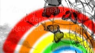 Connie Talbot-Somewhere over the rainbow lyrics on screen