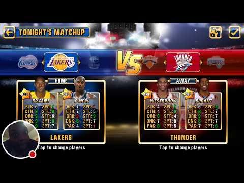 Kobe Bryant Disrespect Kevin Durant NBA JAM Los Angeles Lakers vs Oklahoma City Thunder Dunk