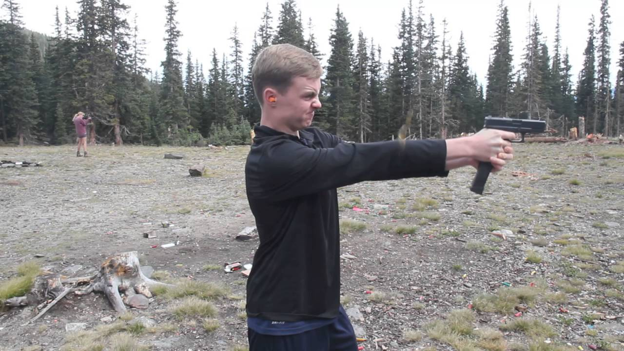 Firing a Glock 19 with a 30 round magazine