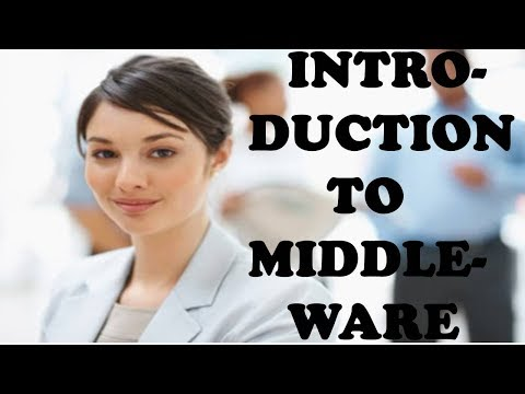 INTRODUCTION TO MIDDLEWARE