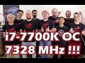 i7 7700K übertaktet auf 7328 MHz Ein neuer WELTREKORD ASUS Absolute Zero 2016