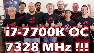 i7-7700K übertaktet auf 7328 MHz - Ein neuer WELTREKORD [ASUS Absolute Zero 2016]