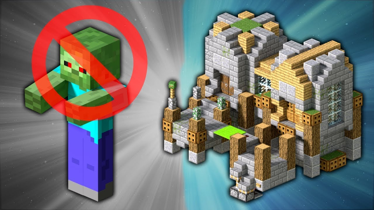 How to build a zombie proof house minecraft youtube for Zombie build