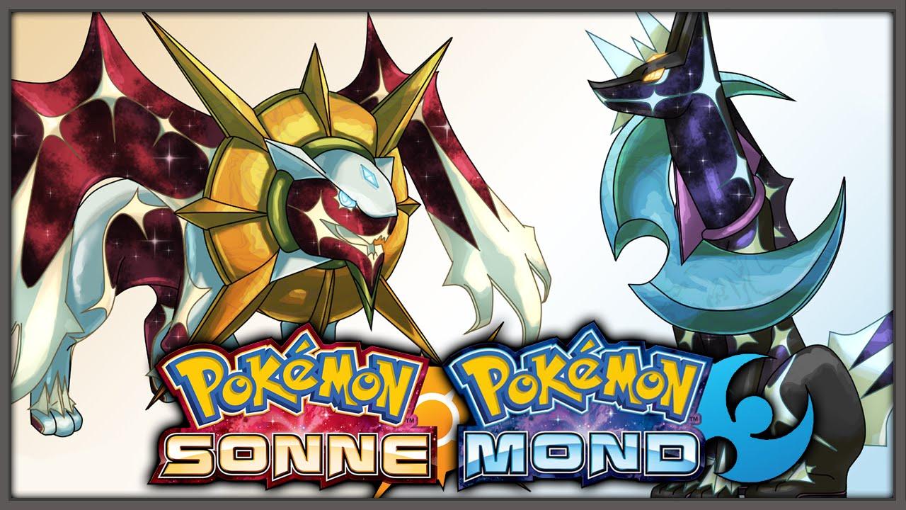 2 Neue Legendäre Pokemon Solgaleo Lunaala Pokemon Sonne