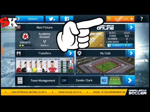 Cheat coin Dream League Soccer 2018 without lucky patcher