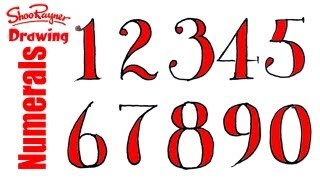 How to Draw Fancy Numbers