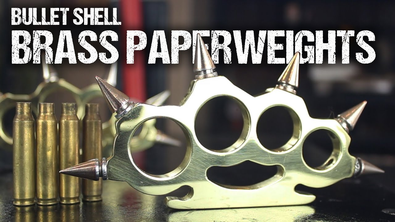 How to make brass knuckles from bullet shells youtube for Brass knuckles template