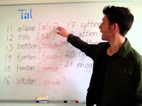 Tips til tallene - Help to pronounce numbers in Danish