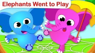10 Elephants on a Web | Counting Numbers| Kids Songs &Nursery Rhymes by Little Angel