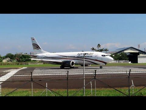 Xpress Air Boeing 737-300 Take Off - Husein Sastranegara Airport Bandung Indonesia