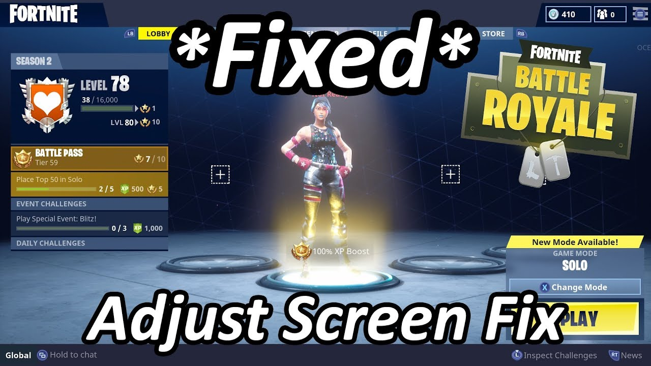 how to fix zoomed in screen adjust screen size on fortnite - why is my fortnite zoomed in ps4