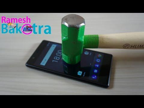 Nokia 3 Screen Scratch Test Gorilla Glass