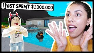 BUILDING A MILLION DOLLAR MANSION FOR MY HATER! - Roblox - Bloxburg