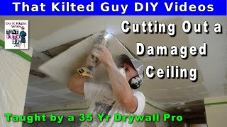 How To Repair Ceiling Water Damage - Fast, Easy Tips for Novices, Taught by Mr Patch Drywall