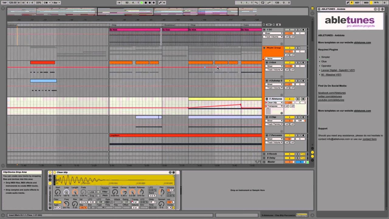 Progressive House Ableton Live 9 Template Antidote By Abletunes