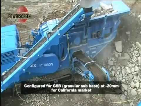 Multi-stage Mobile Tracked Crusher Powerscreen XH500SR