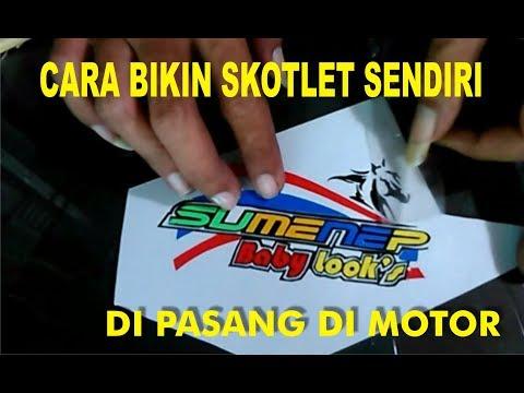 Pasang stiker motor | Behel jok belakang | Yamaha fino.