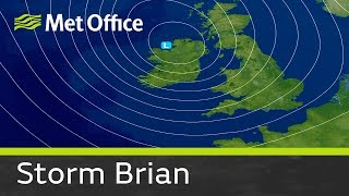 Storm Brian is the second named storm of the season and is expected...