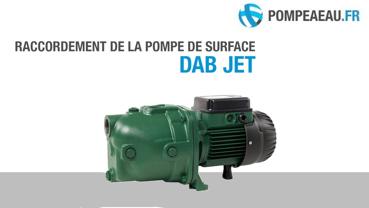 raccordement de la pompe de surface dab jet youtube