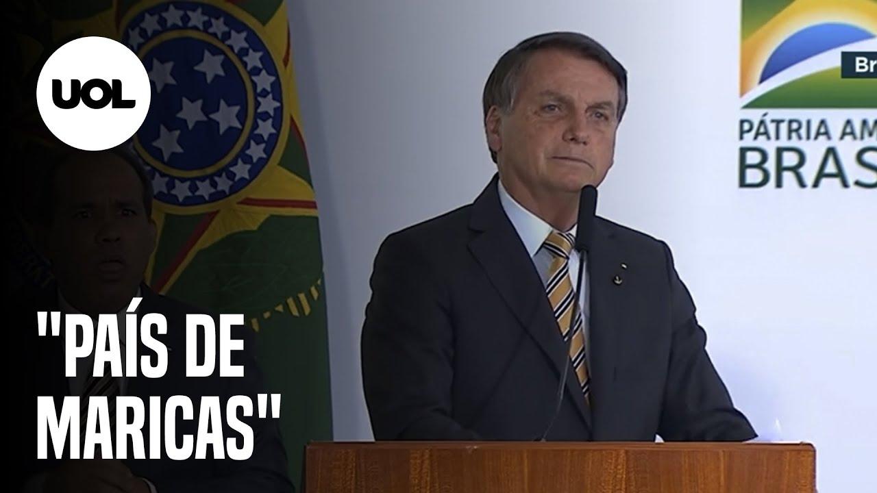 Tem que deixar de ser um país de maricas', diz Bolsonaro sobre covid-19 -  Notícias - BOL