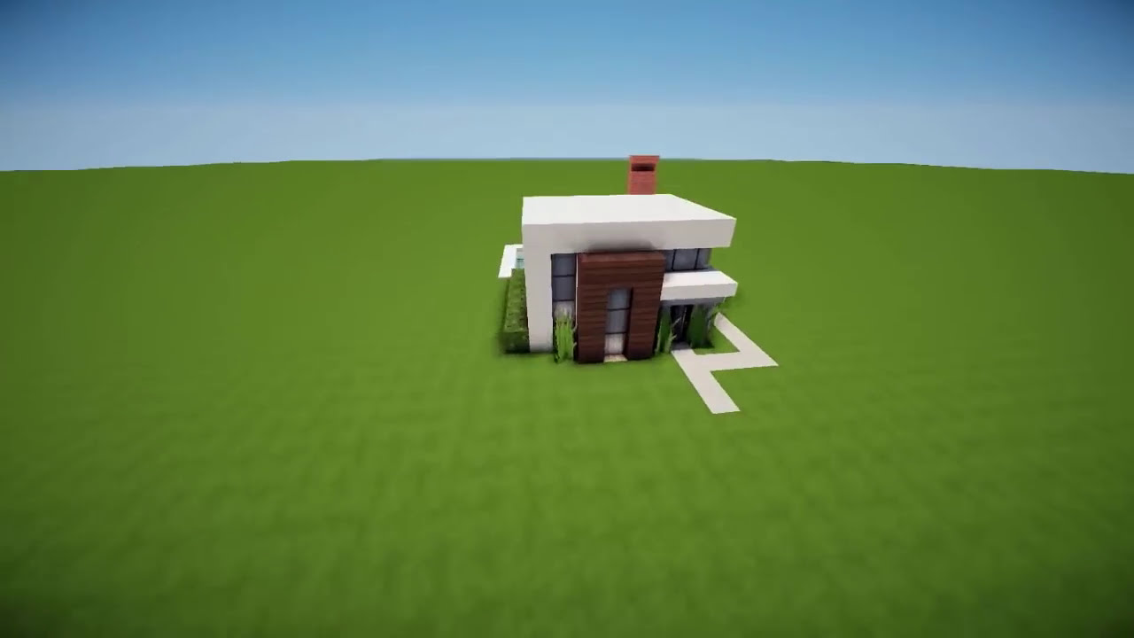 Minecraft tutorial pequena casa moderna para in cio de for Casa moderna survival minecraft