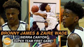 Bronny James, Zaire Wade, Zaiare Williams & BJ Boston Sierra Canyon SUPER TEAM!