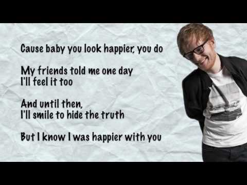 Ed SheeranHappier Lyrics