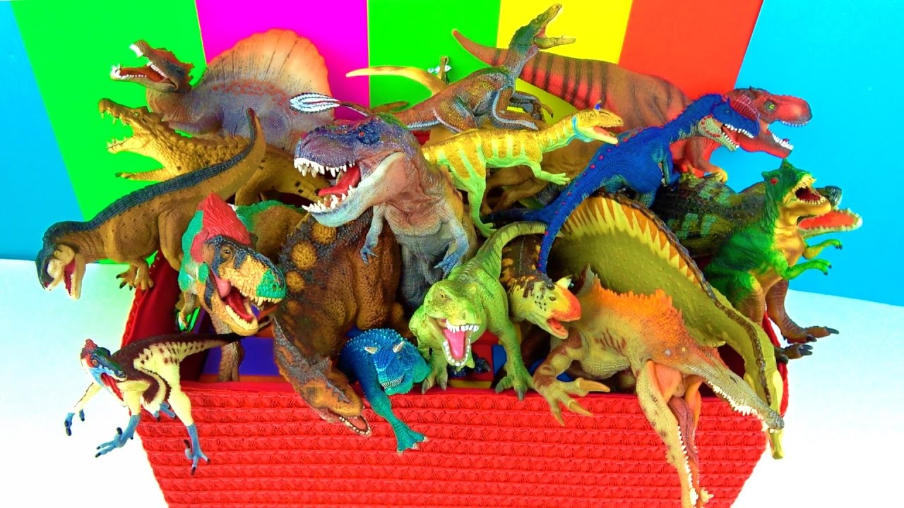 Dinosaurs Toys Collection : Dinosaur box toy collection what s in the