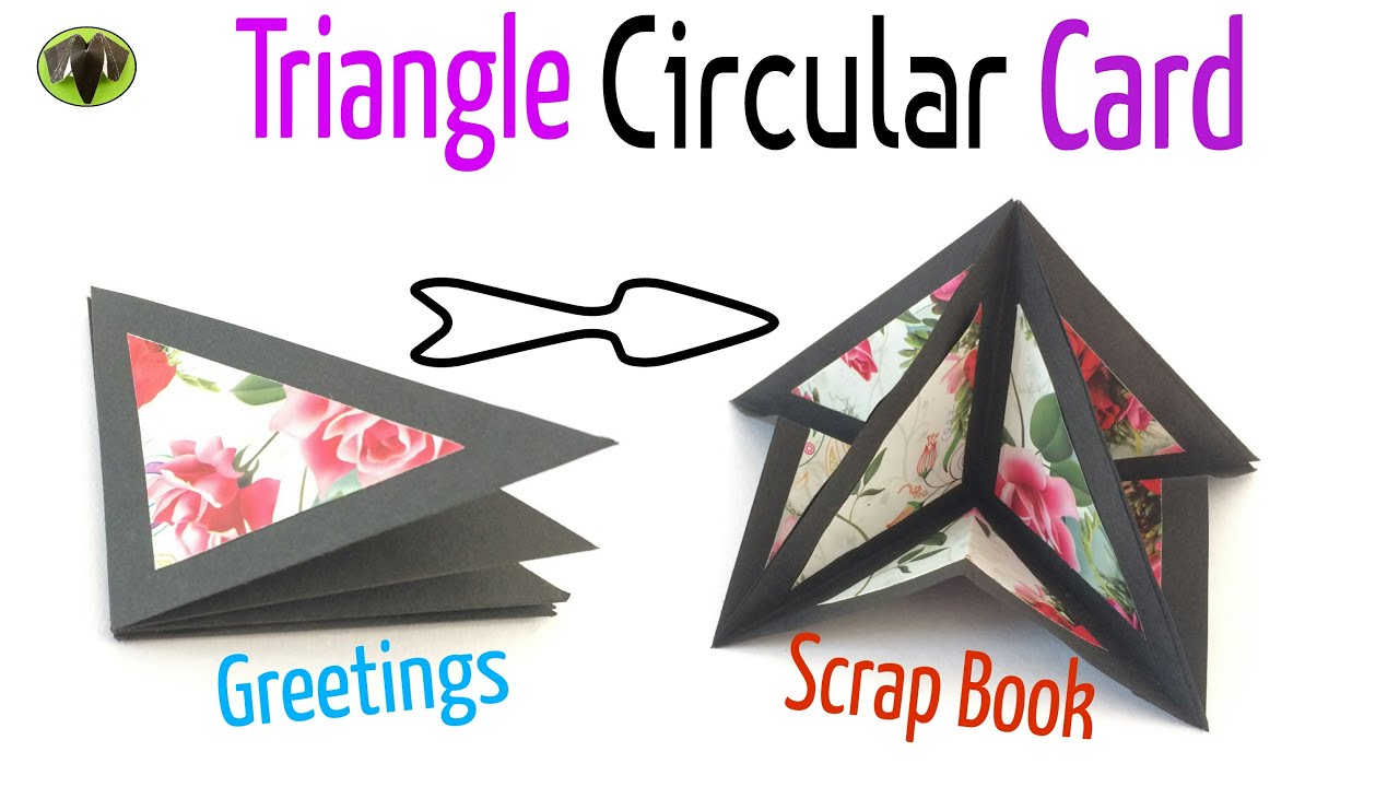 Triangle circular popup card greetings scrap book diy triangle circular popup card greetings scrap book diy tutorial by paper folds youtube kristyandbryce Images