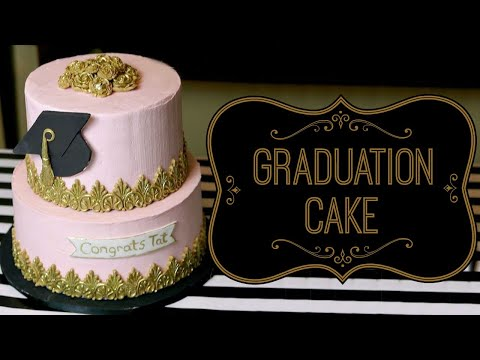 GRADUATION CAKE TUTORIAL || Janie's Sweets