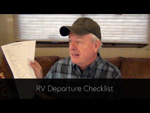 RV Departure Checklist