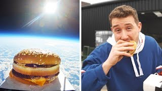 I Sent a McDonald's Big Mac to Space & Ate It (First McDonalds Burger in Space)