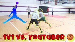 1v1 BASKETBALL vs. YOUTUBER   Must Watch 😈   SNEAKPEAKMOE