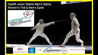 Day08 Commonwealth Junior & Cadet Fencing Championships 2018 - Piste Yellow
