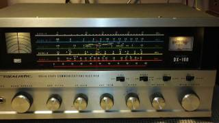 Realistic DX-160 Shortwave Receiver 40 Meter 8-31-11 Nighttime SWL