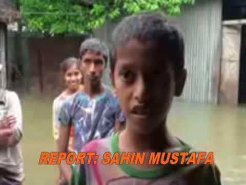 a hight flood in tangail. Bangladesh