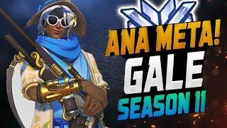 Gale Ana Meta! Best Ana? [ OVERWATCH SEASON 11 TOP 500 ]