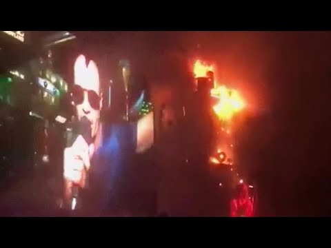 Fire engulfs stage at Barcelona music festival